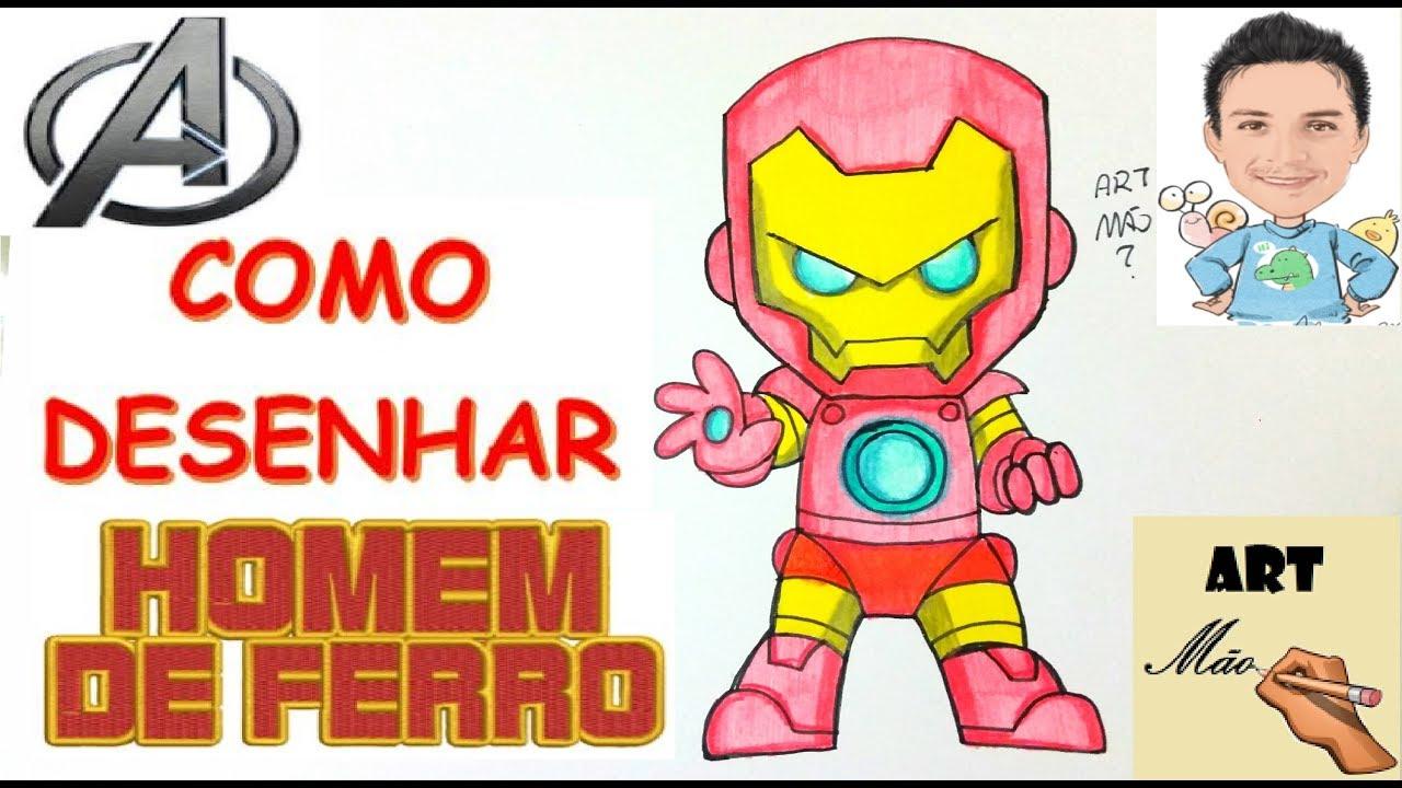 Como Desenhar O Homem De Ferro Chibi The Avengers