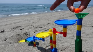 Sound of waves and Marble Run (ASMR)
