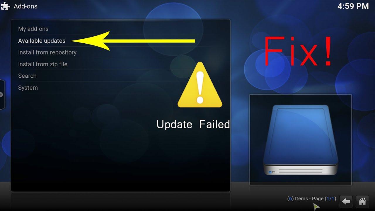 Add-ons not Updating/Installing Fix (Kodi/XBMC)