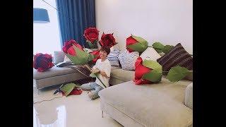 8 Giant Paper Roses | Flower Making | DIY