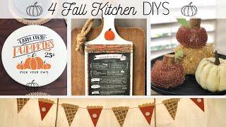 🍁 4 Fall Kitchen DIYS 🍁  |  Fall Farmhouse Inspiration  |  Dollar Tree DIY