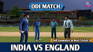 (INDIA VS ENGLAND) ODI MATCH IN REAL CRICKET 19 GAMEPLAY