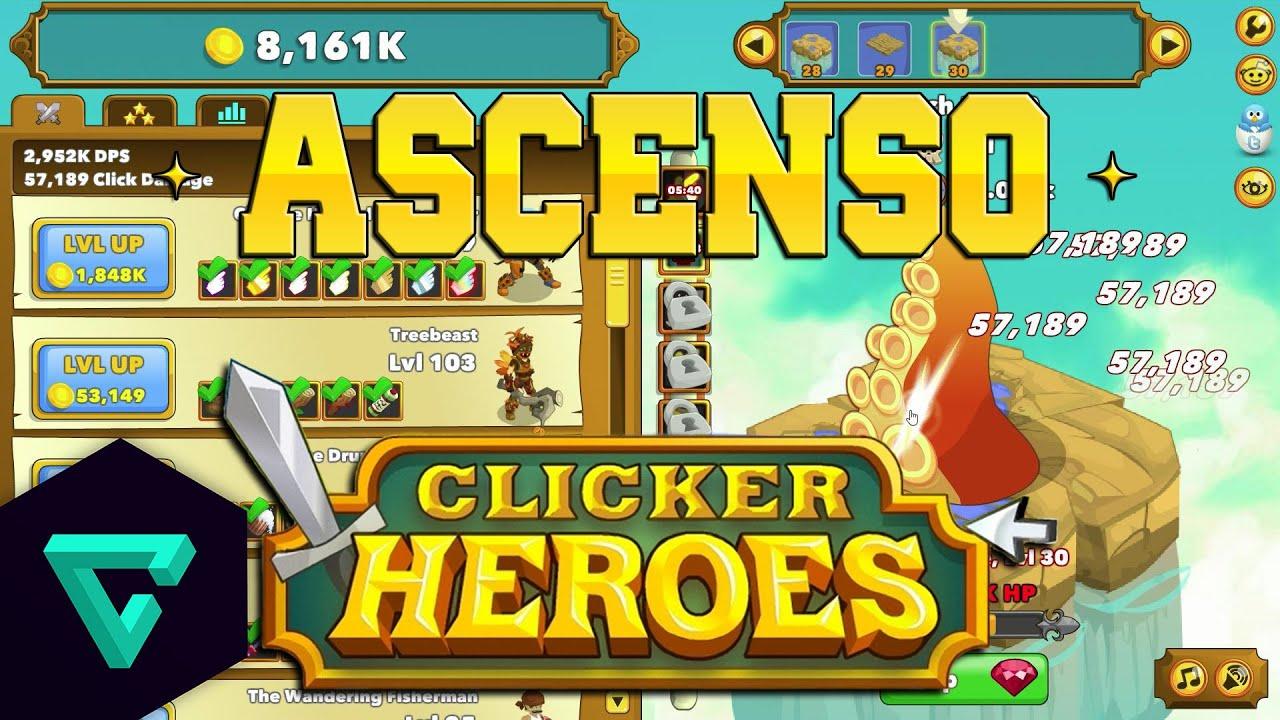 Volviendo al nivel 1 clicker heroes gameplay en espa 241 ol youtube