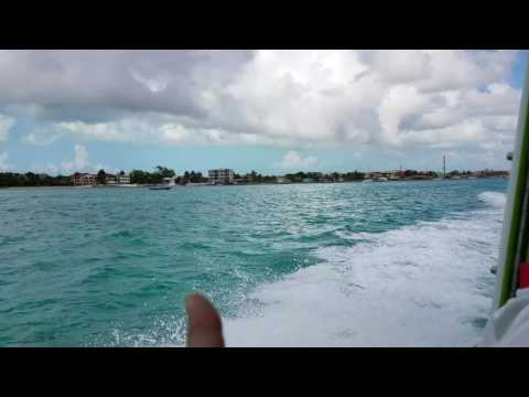 On the water taxi leaving San Pedro Belize