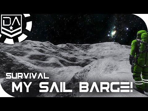 Space Engineers Survival   Building my Barge! - EP2