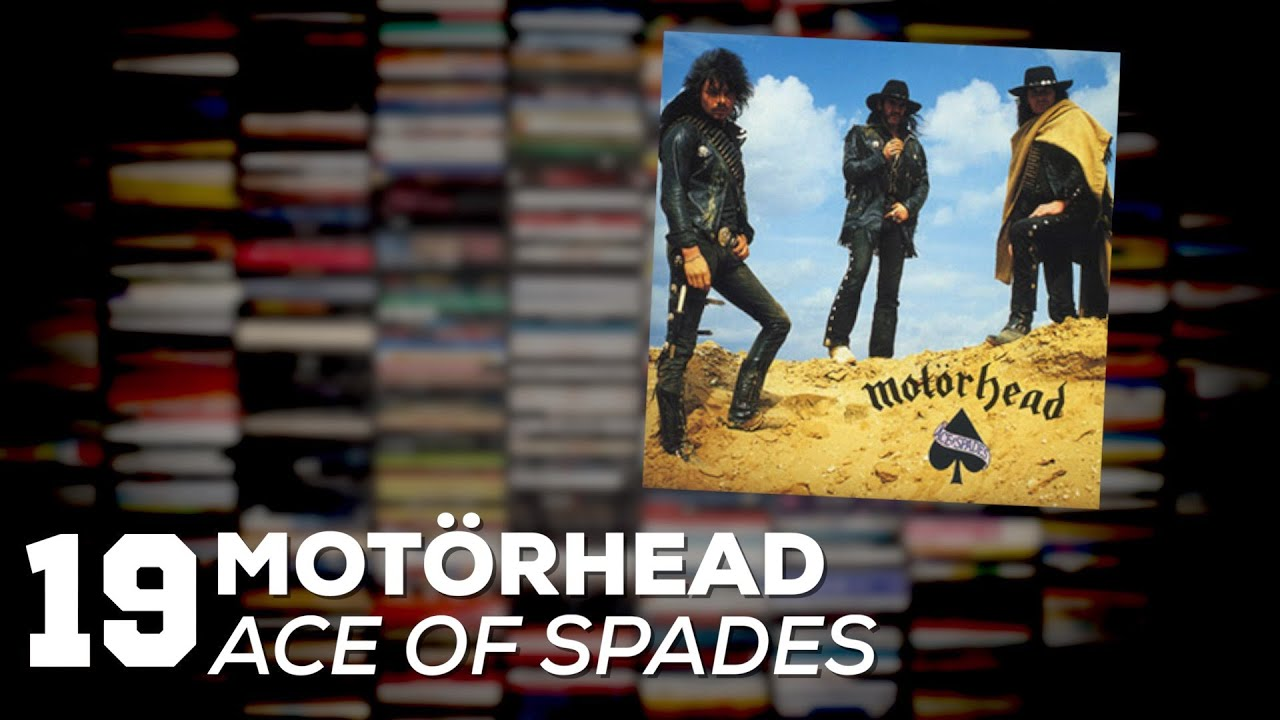 """Ace of spades"" - Motörhead   1970, 1980, 1990, 2000, 2010   Alta Fidelidade"