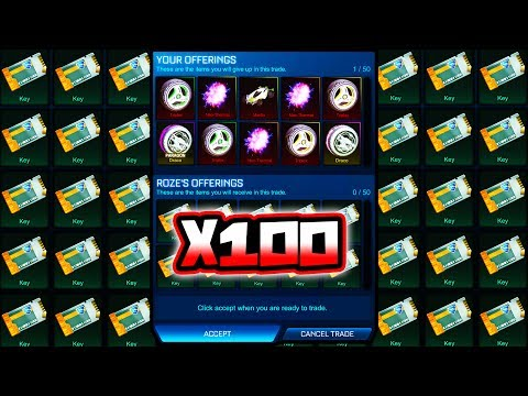 TRADING ALL MY PAINTED NITRO ITEMS IN ROCKET LEAGUE!!