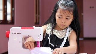 unboxing mainan anak mesin jahit - belajar menjahit - kids sewing machine