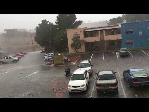 Hailstorm El Paso, Texas