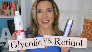 Help for Crepey Body Skin! Retinol Vs Glycolic Lotion