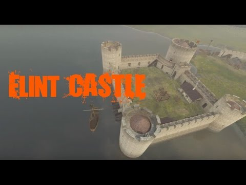 Flint castle then and now