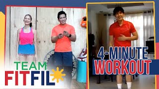 Download Mp3 4-minute Total Lower Body Workout With Robi Domingo | Team Fitfil Episode 6