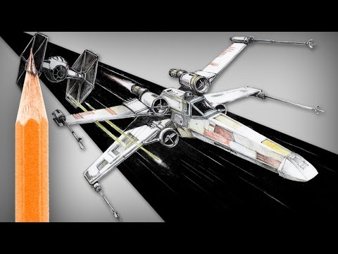 How to draw Star Wars X-wing (and TIE Fighter)