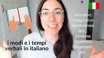 Modi e tempi verbali della lingua italiana