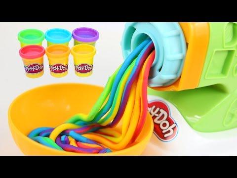 DIY Play Doh Rainbow Spaghetti Maker Modelling Clay Play Doh Mighty Toys