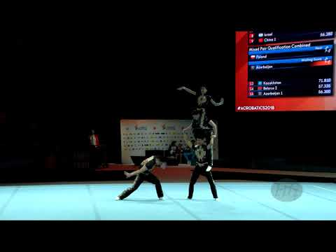 China 1 (CHN) - 2018 Acrobatic Worlds, Antwerpen (BEL) - Combined  Men's Group
