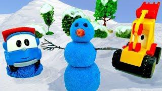 Снеговик и Грузовичок Лева - Зимнее видео для детей