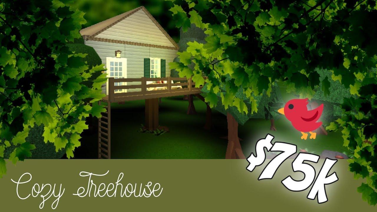Roblox Bloxburg Cozy Treehouse Speed Build Youtube