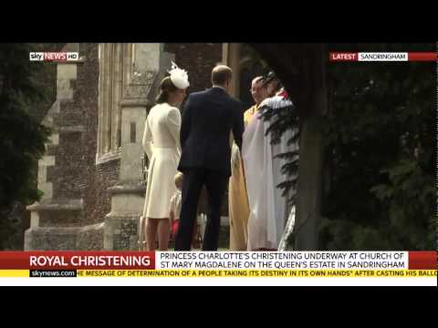 Royal arrivals at Charlotte's Christening