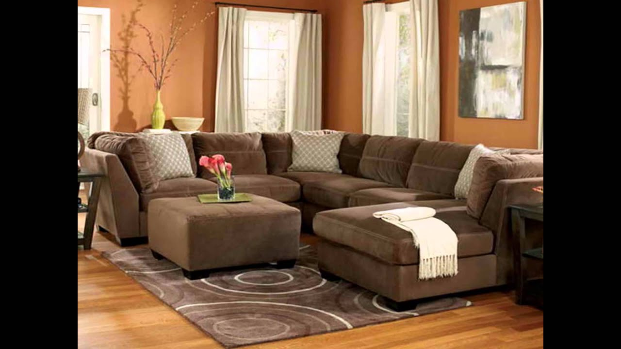 Family Rooms with Leather Sectionals Design Ideas with Furniture