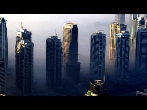 Dubai Marina Fog from Princess Tower