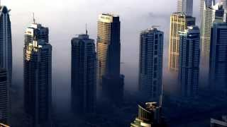 Dubai Marina Fog from Princess Tower