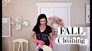 🍁FALL CLEAN WITH ME ROUTINE~RELAXING CLEANING & DECORATING🍁