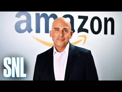 Comedian Steve Carell as Amazon CEO Jeff Bezos trolls Trump on SNL