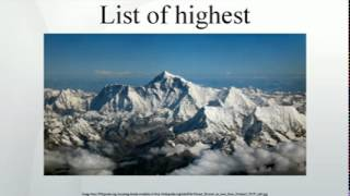List of highest mountains