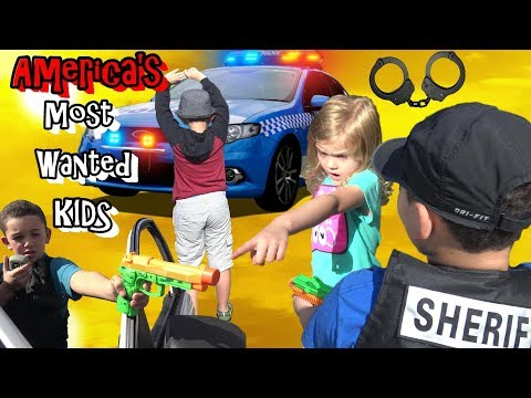 POLICE HUNT DOWN AMERICA'S MOST WANTED KIDS - COP KIDS PATROL