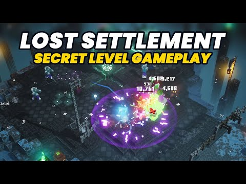 Lost Settlement Level Gameplay Complete Run   Minecraft Dungeons Creeping Winter DLC