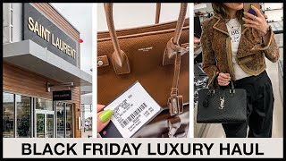 80% Off Saint Laurent! Black Friday Try-on Haul | Toronto Premium Outlets