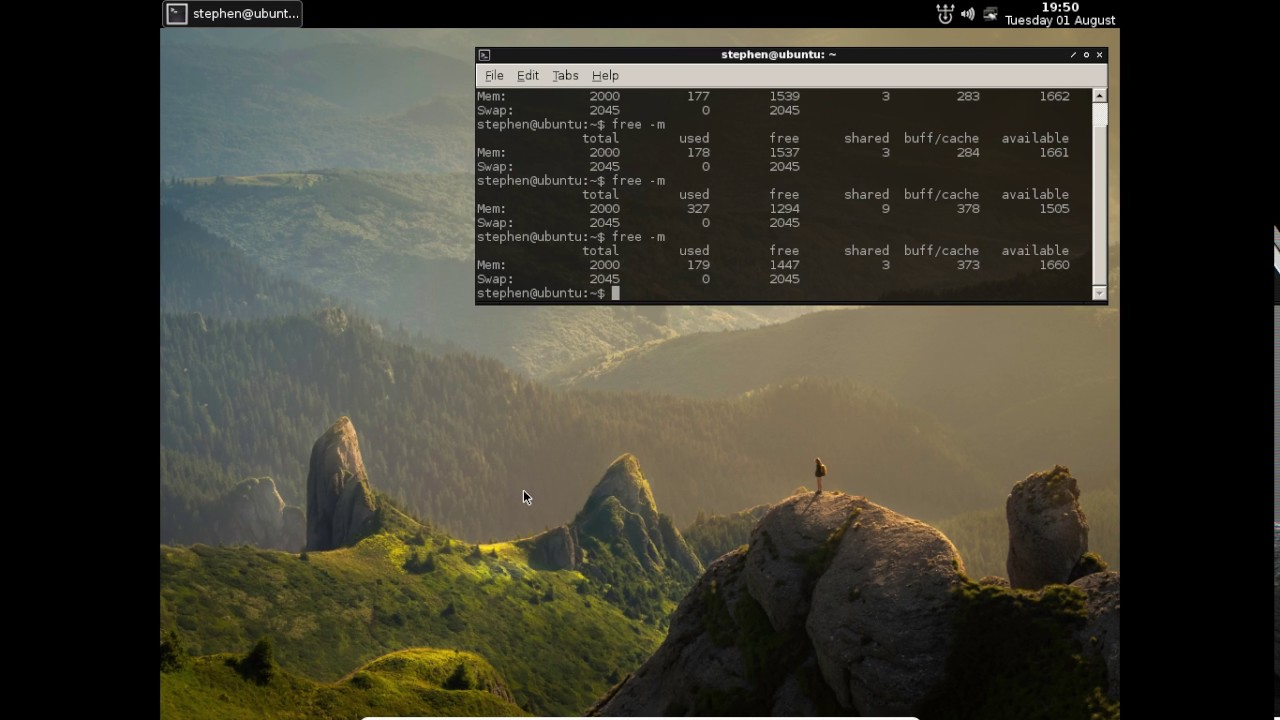 Ubuntu Server with Openbox window manager and Tint2 panel