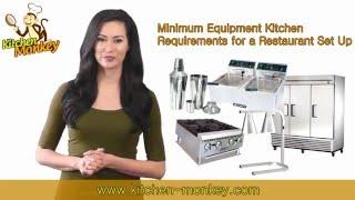 Minimum Equipment Requirements For A Restaurant Set Up
