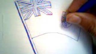 How to draw the cayman island flag