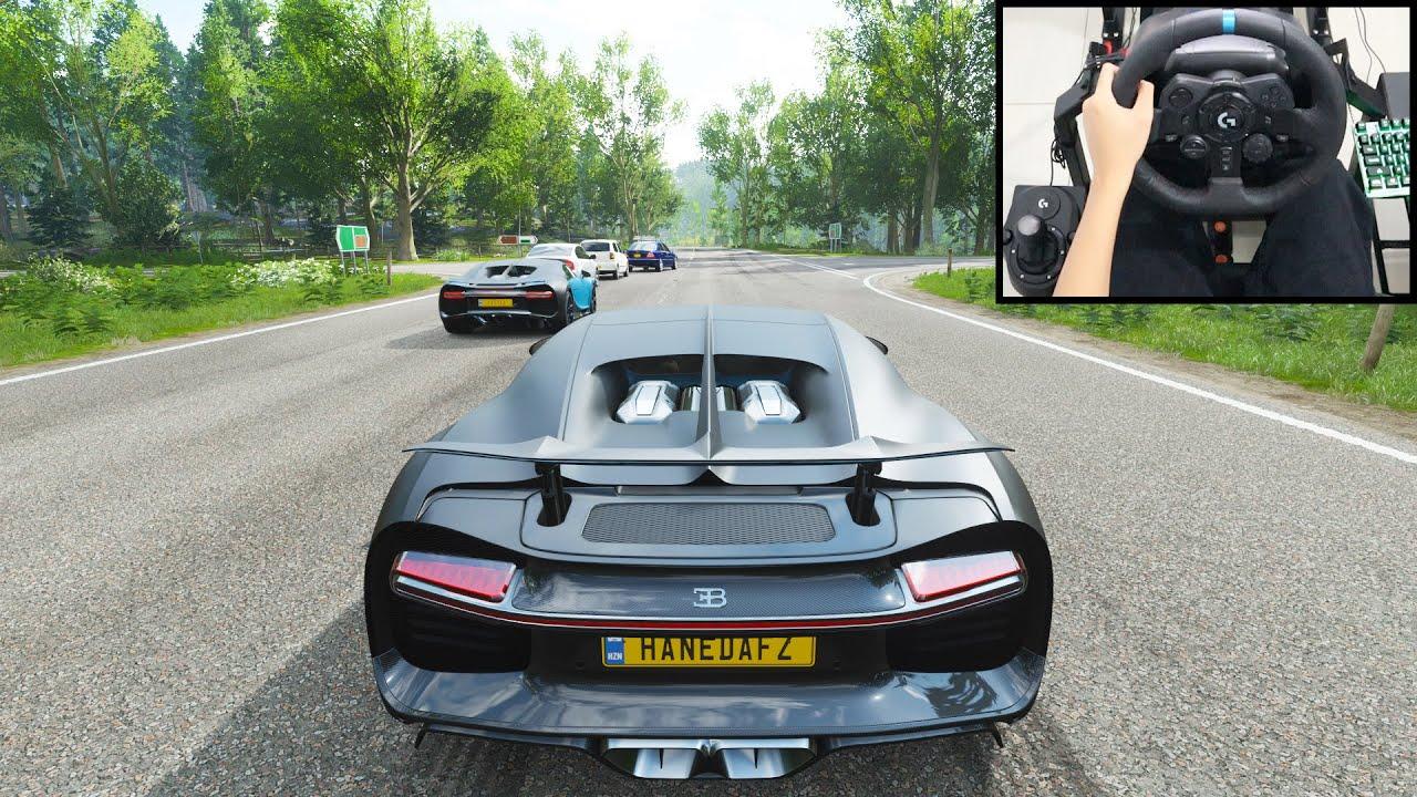 Bugatti Chiron - Forza Horizon 4 | New Logitech g923 gameplay
