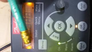Налаштування частотника Данфосс на роботу вперед/назад від тумблерів