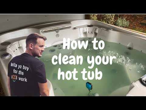 How to clean a hot tub the right way