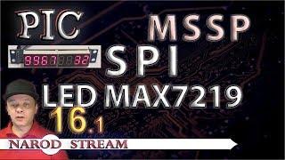 Программирование МК PIC. Урок 16. MSSP. SPI. Светодиодный индикатор MAX7219. Часть 1