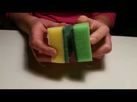 Asmr sponge scratching destroying Soapy sounds Playing with sponges