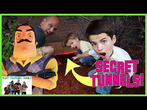 We Found Hello Neighbors Secret Abandoned Tunnels Under Our House! / That YouTub3 Family