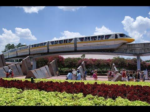 [4K] MONORAIL TRAIN MAGIC KINGDOM Disney World Florida