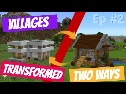 How to Transform a Minecraft Village into BOTH Rustic and Modern Styles with Avomance and KyleKraft thumbnail