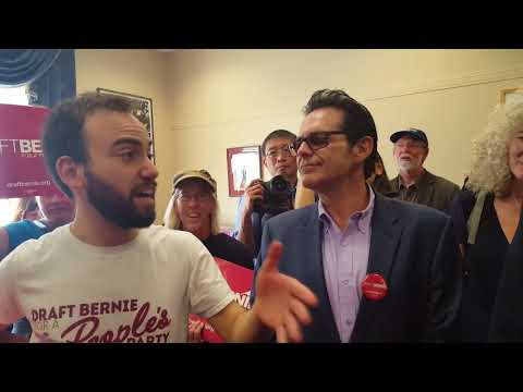 Nick Brana and Tim Black Speak at Draft Bernie Petition Delivery