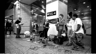 u2 busks in nyc subway in disguise 2015