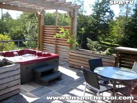 un spa chez soi com jacuzzi youtube. Black Bedroom Furniture Sets. Home Design Ideas