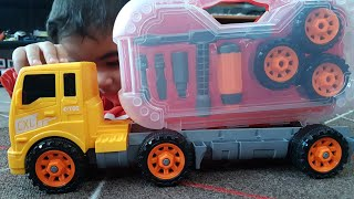 Truck assembly Video for Children Play with Toy Truck with Toolset and unboxing truck for Kids