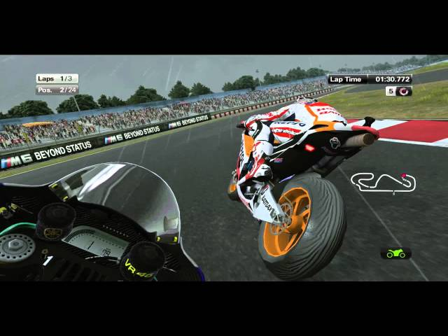 MotoGP 2013 (Game) Demo Gameplay (Rain) + DL [PC/HD] Travel Video