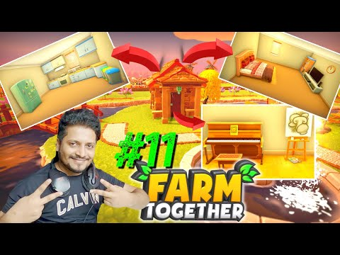 Farm Together   Part 11   Decorating My New Home + 2M💰💲 in one Harvest   Hindi Farm Together 11