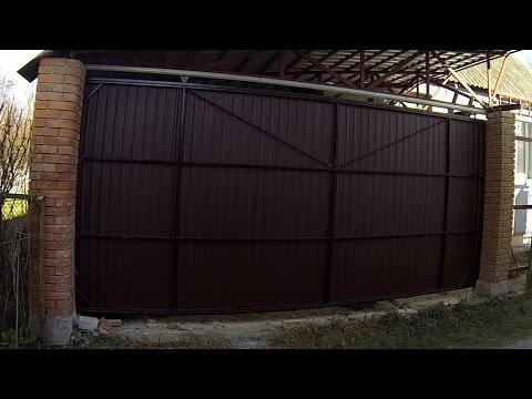 Автоматические ворота подвесные